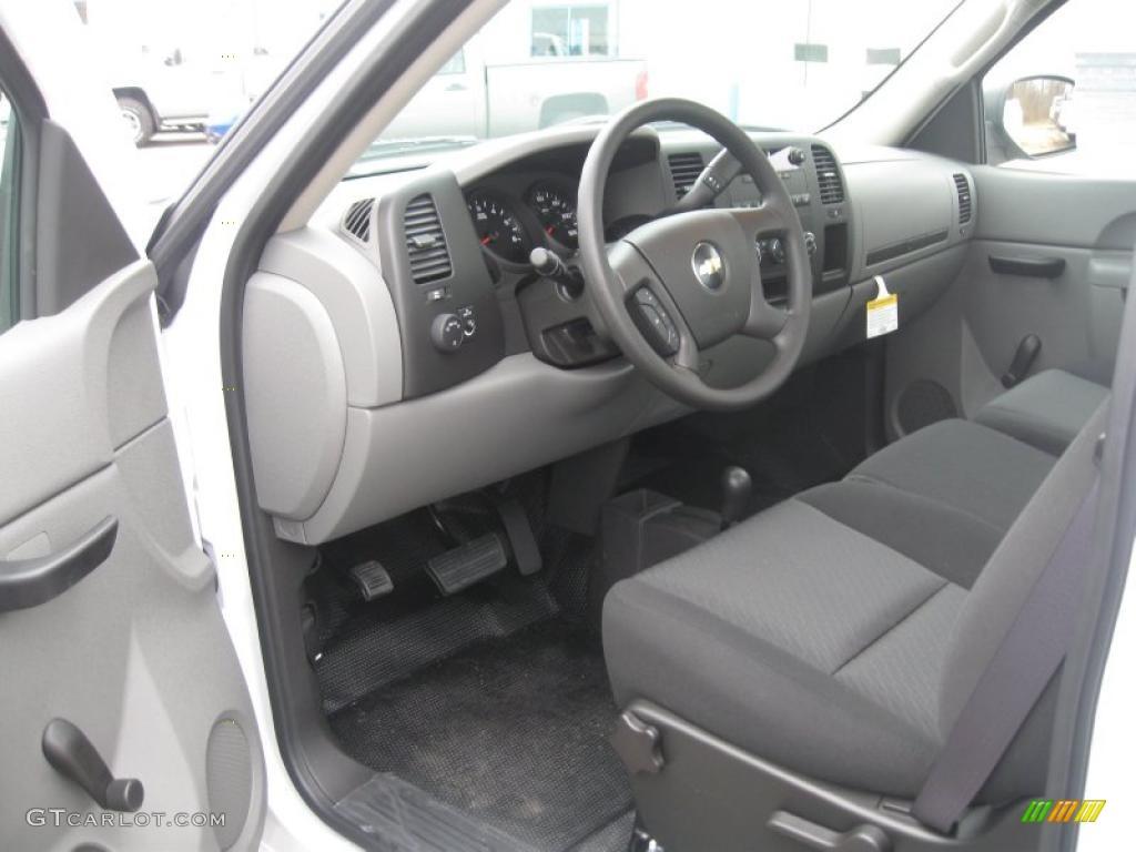 Dark Titanium Interior 2011 Chevrolet Silverado 1500 Regular Cab 4x4 Photo #40025994