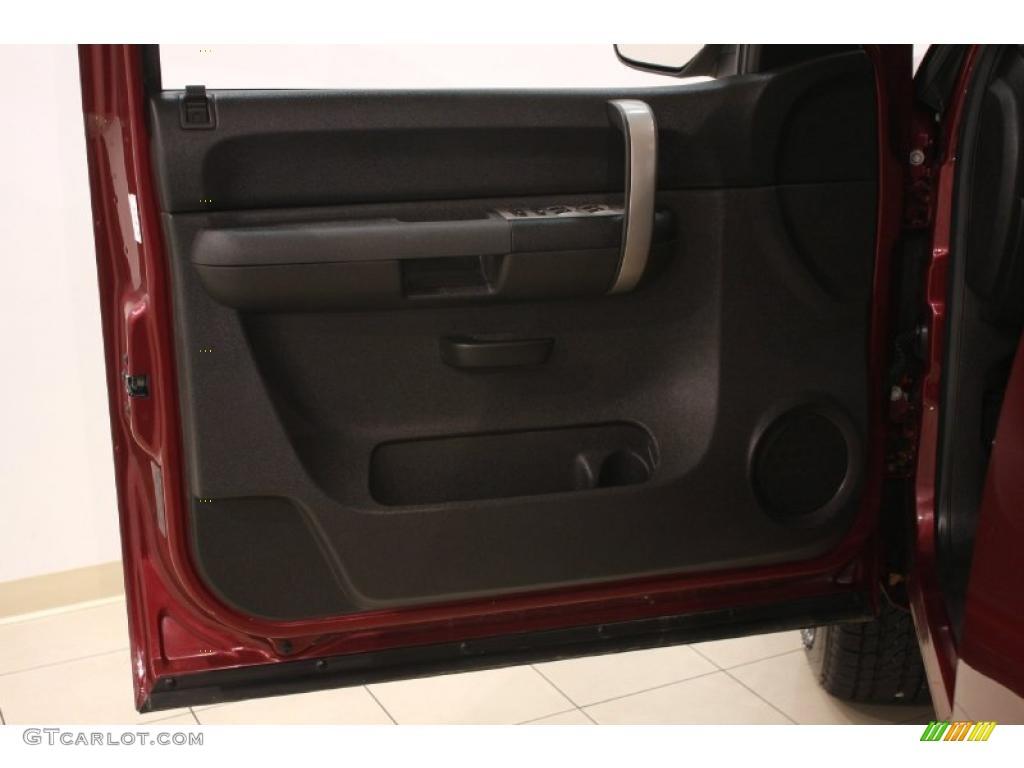 2009 Silverado 1500 LT Crew Cab 4x4 - Deep Ruby Red Metallic / Ebony photo #8