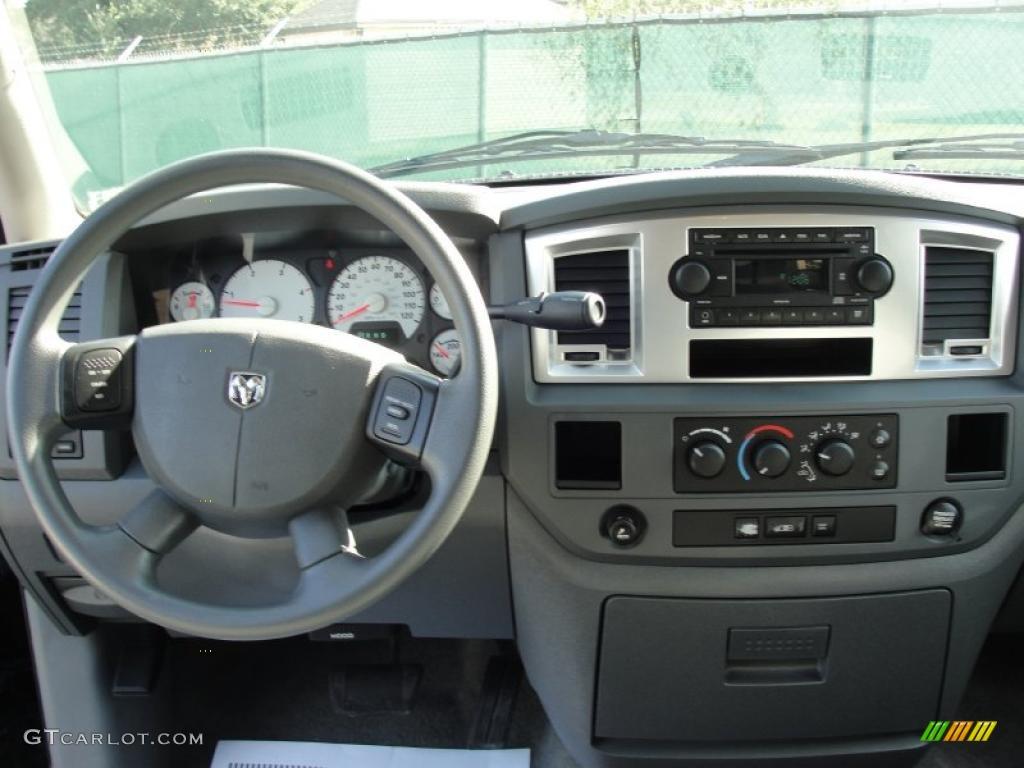 2008 Dodge Ram 2500 Lone Star Edition Quad Cab Medium Slate Gray Dashboard Photo 40036989