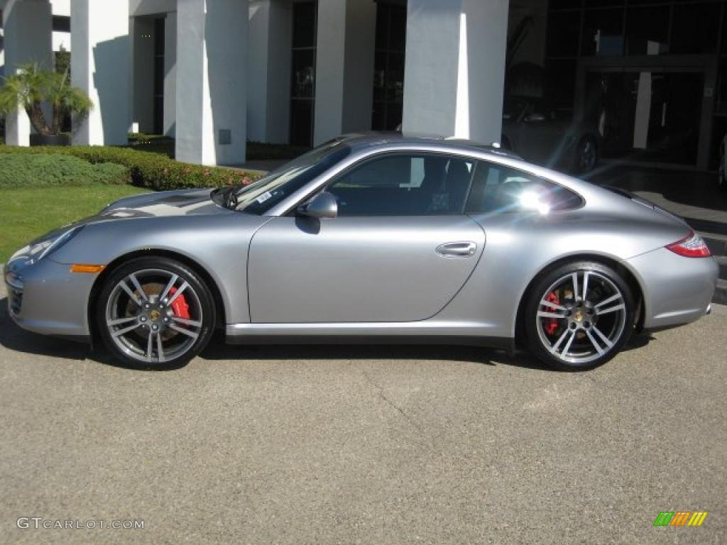 GT Silver Metallic 2011 Porsche 911 Carrera 4S Coupe Exterior Photo ...