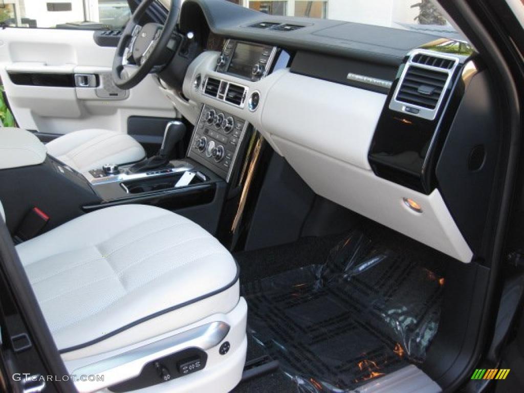 Ivory White Jet Black Interior 2010 Land Rover Range Rover Hse Photo 40038682