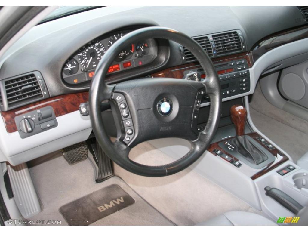 Grey Interior 2001 Bmw 3 Series 325i Sedan Photo 40051806