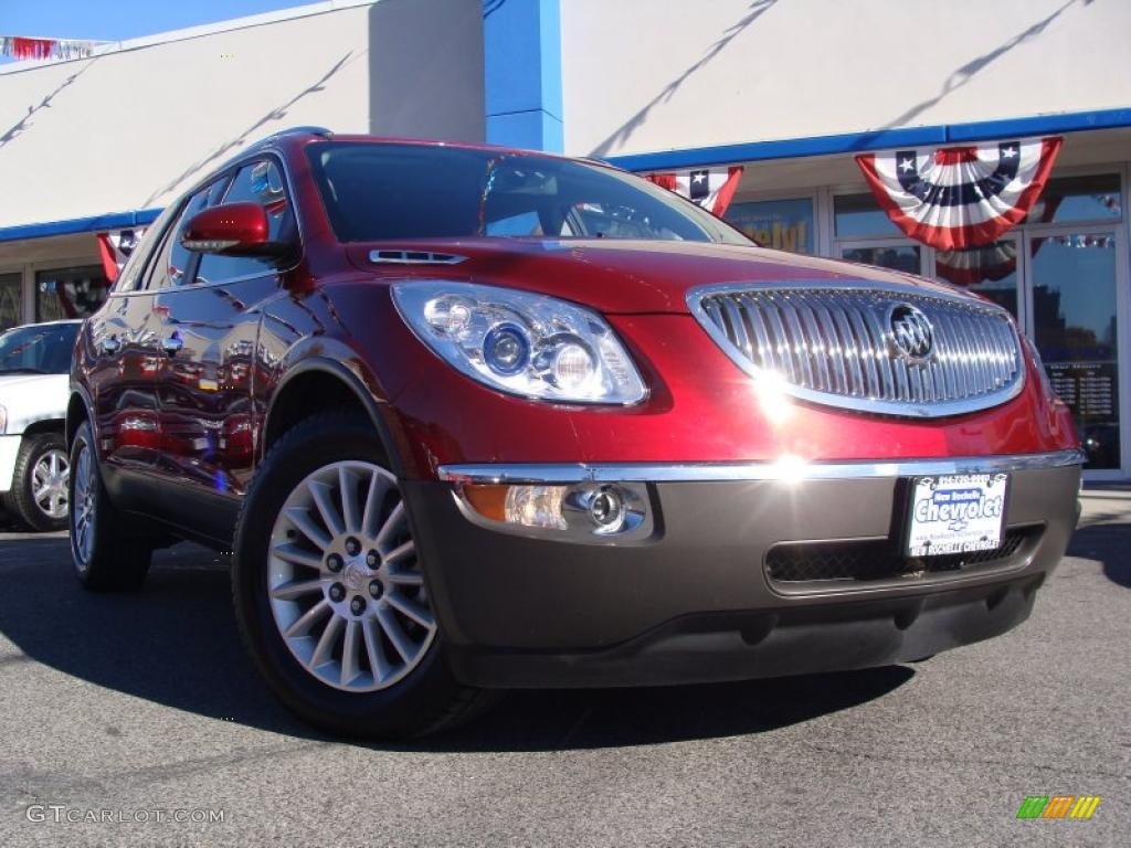 2010 Enclave CXL AWD - Red Jewel Tintcoat / Ebony/Ebony photo #1