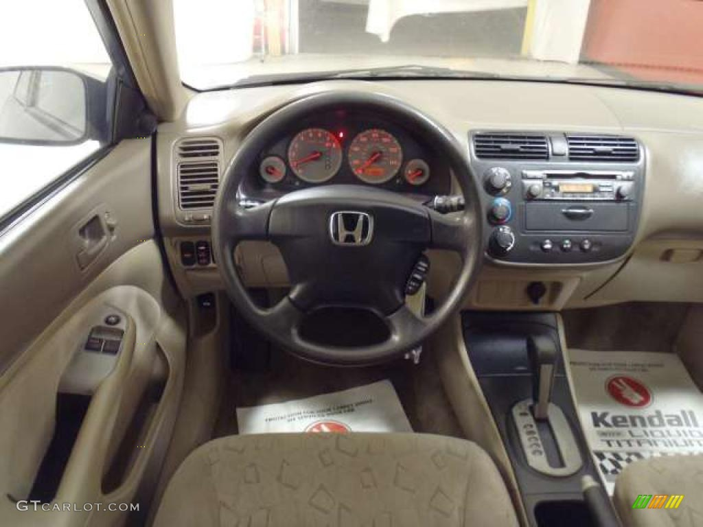 2002 Honda Civic Ex Coupe Beige Dashboard Photo 40066923