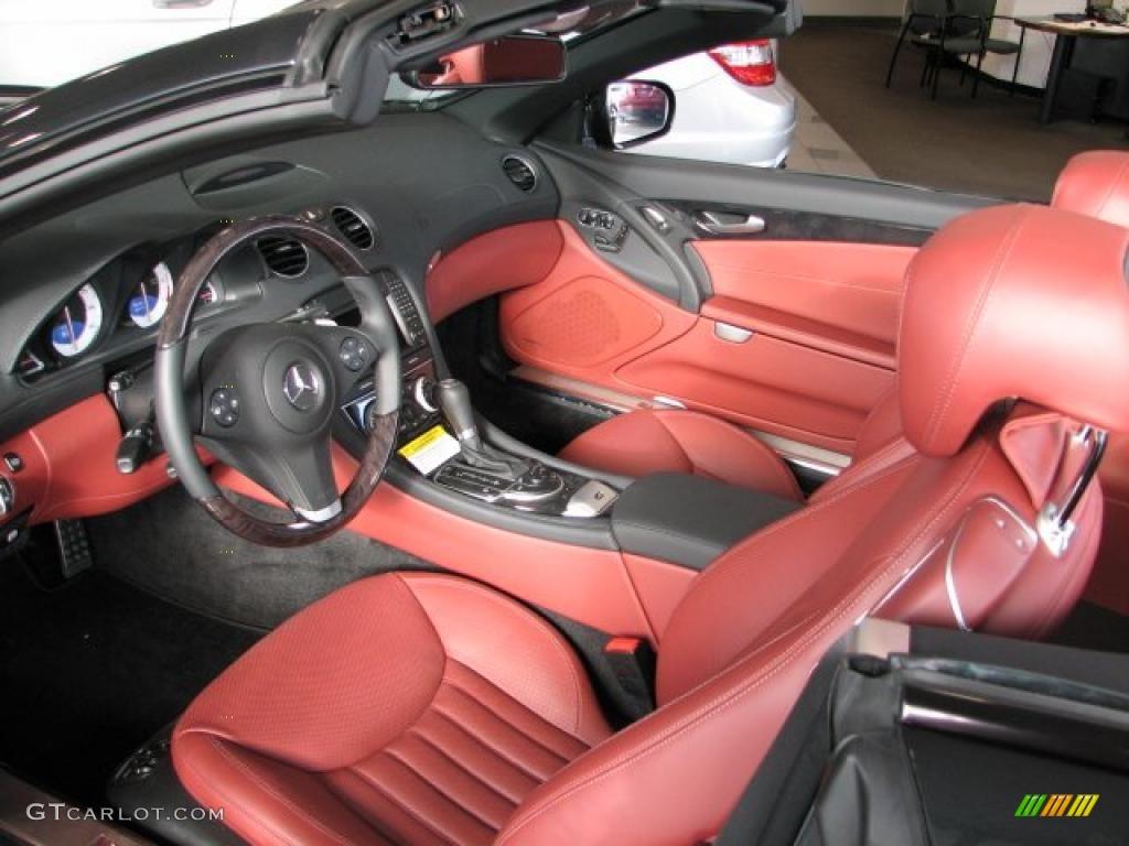 Red Interior 2011 Mercedes Benz Sl 550 Roadster Photo 40075923