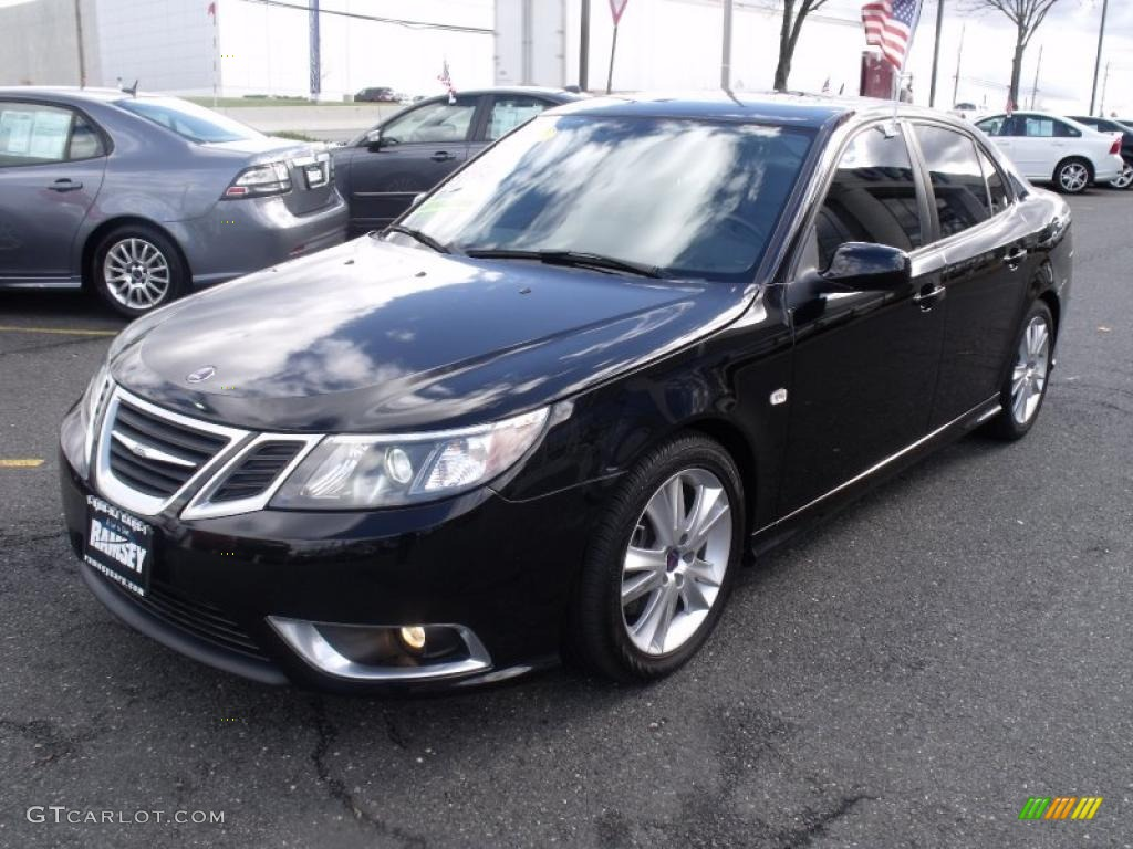 black 2008 saab 9 3 aero sport sedan exterior photo. Black Bedroom Furniture Sets. Home Design Ideas