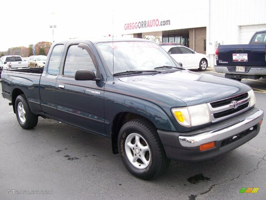1998 Toyota Tacoma Extended Cab - Evergreen Pearl Metallic Color / Oak