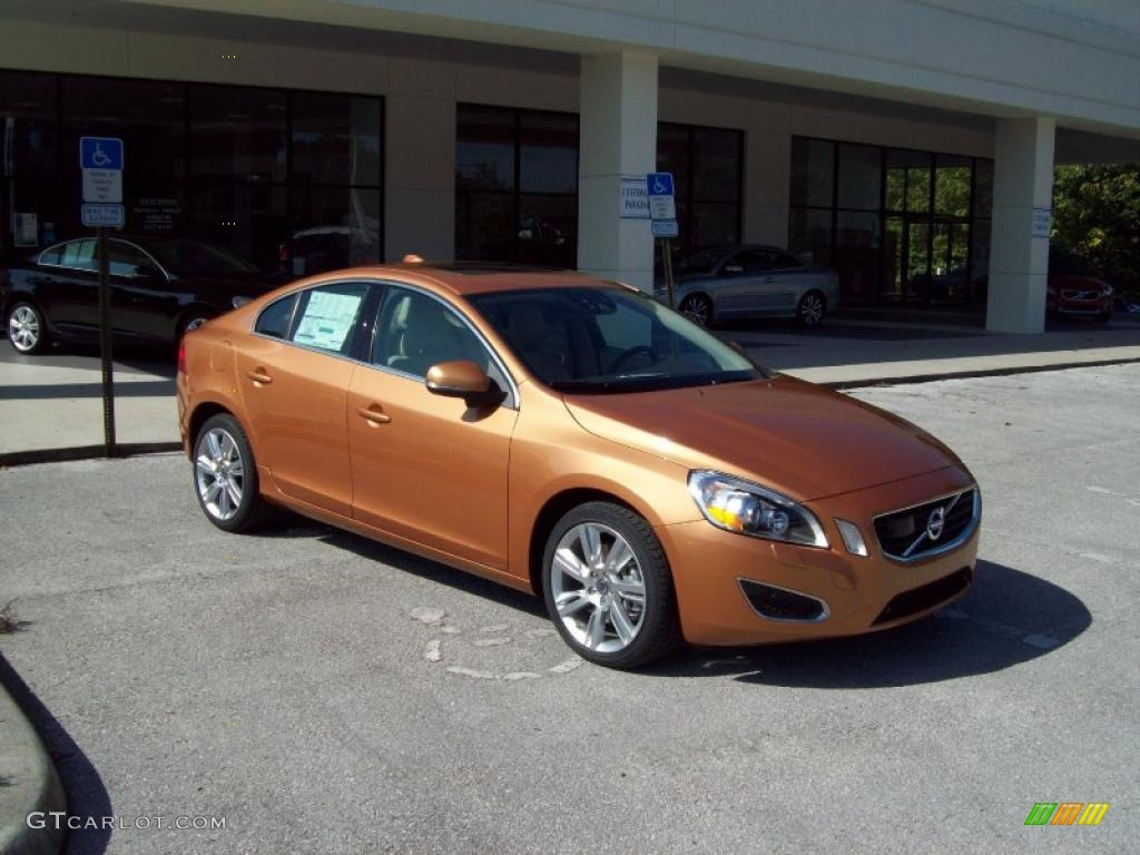 vibrant copper metallic 2011 volvo s60 t6 awd exterior. Black Bedroom Furniture Sets. Home Design Ideas