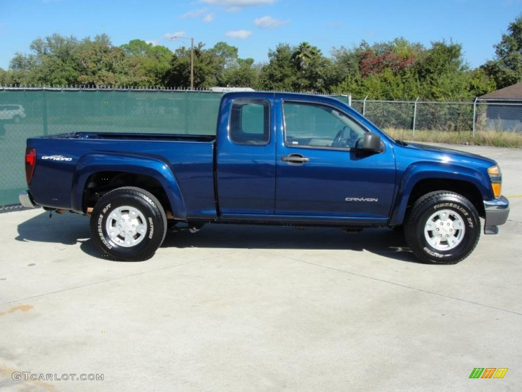 indigo blue metallic 2004 gmc canyon sl extended cab exterior photo 40130592. Black Bedroom Furniture Sets. Home Design Ideas