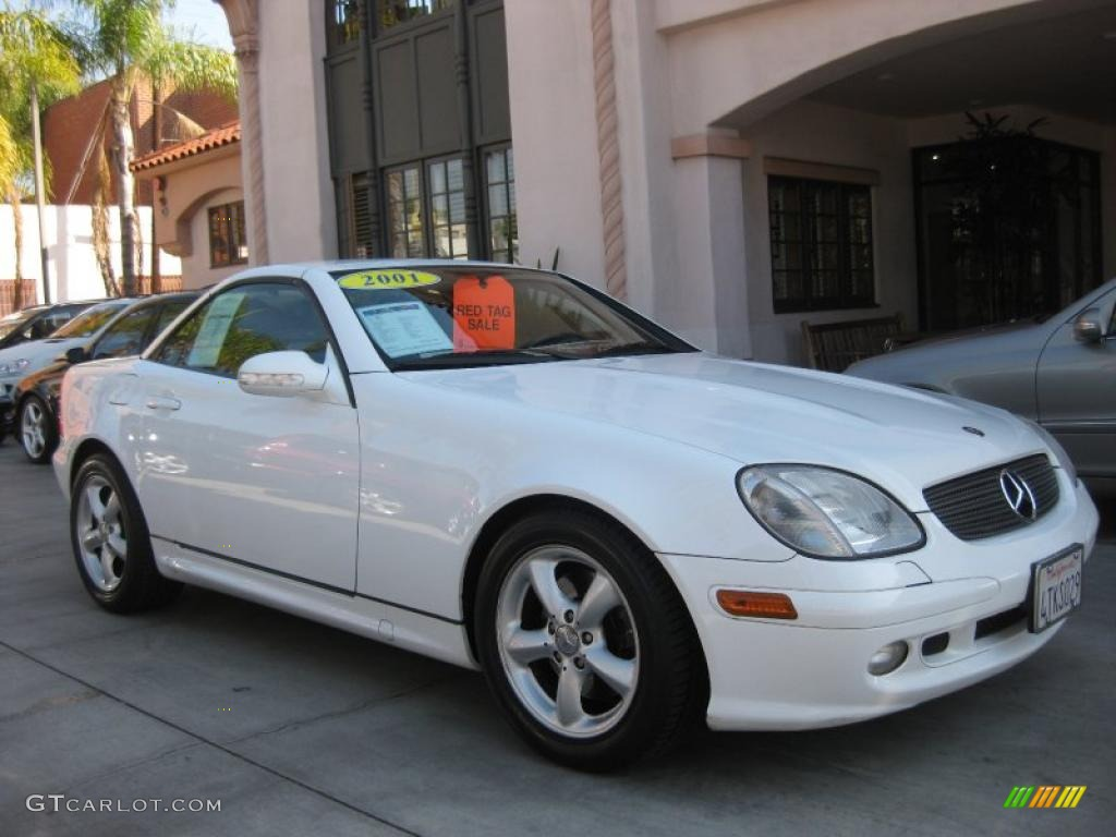 2001 glacier white mercedes benz slk 320 roadster for 2001 mercedes benz slk320