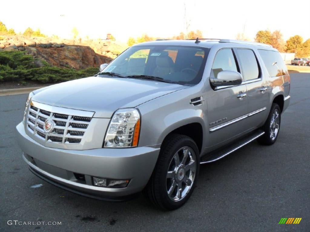 2011 silver lining metallic cadillac escalade esv luxury. Black Bedroom Furniture Sets. Home Design Ideas
