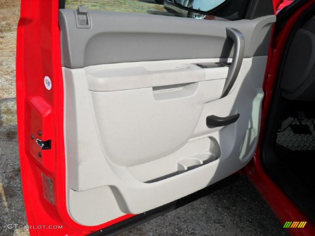 2011 Chevrolet Silverado 1500 Regular Cab 4x4 Dark Titanium Door Panel Photo #40155457