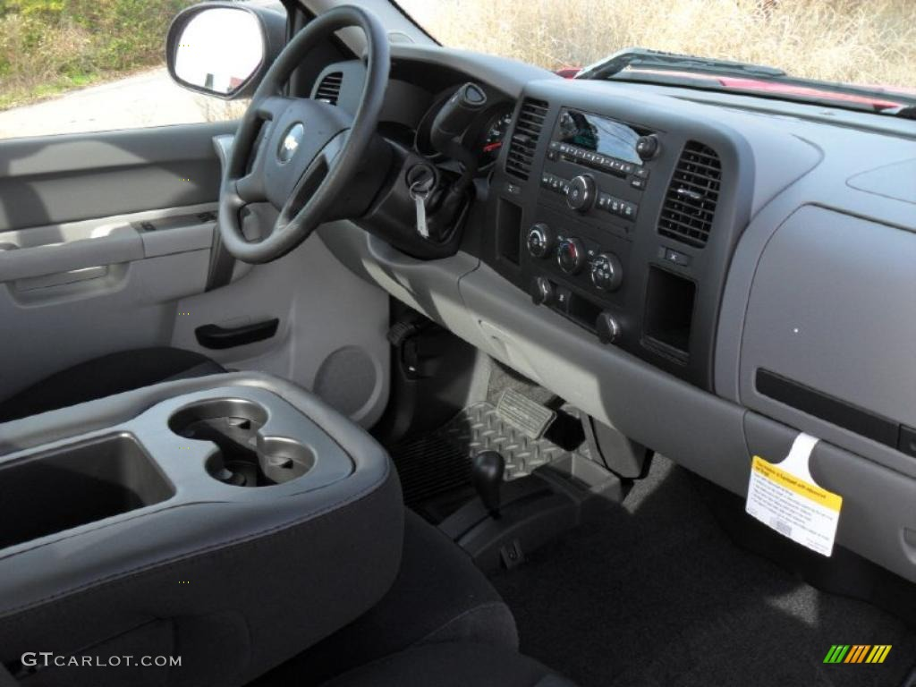 2011 Chevrolet Silverado 1500 Regular Cab 4x4 Dark Titanium Dashboard Photo #40155617