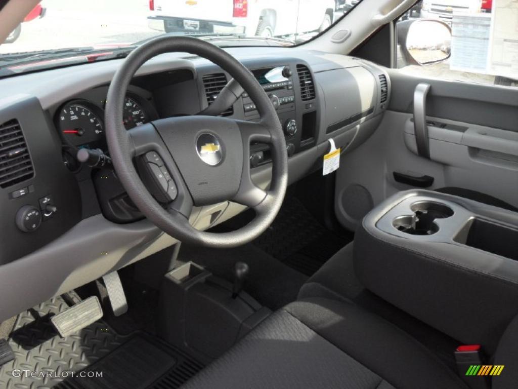 Dark Titanium Interior 2011 Chevrolet Silverado 1500 Regular Cab 4x4 Photo #40155693