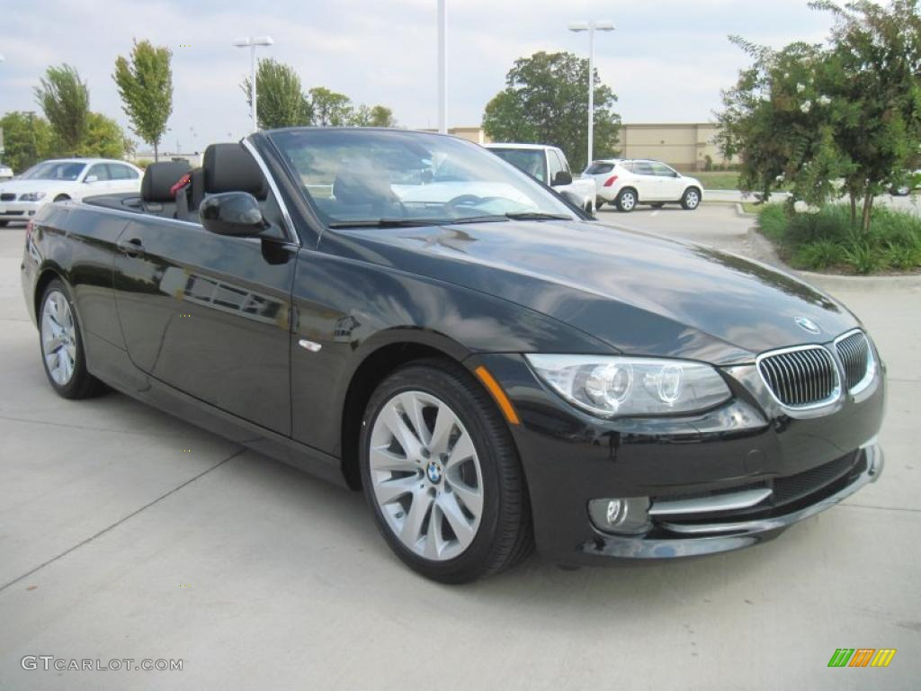 jet black 2011 bmw 3 series 328i convertible exterior. Black Bedroom Furniture Sets. Home Design Ideas