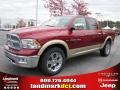2011 Deep Cherry Red Crystal Pearl Dodge Ram 1500 Laramie Crew Cab  photo #1