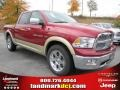 2011 Deep Cherry Red Crystal Pearl Dodge Ram 1500 Laramie Crew Cab  photo #4