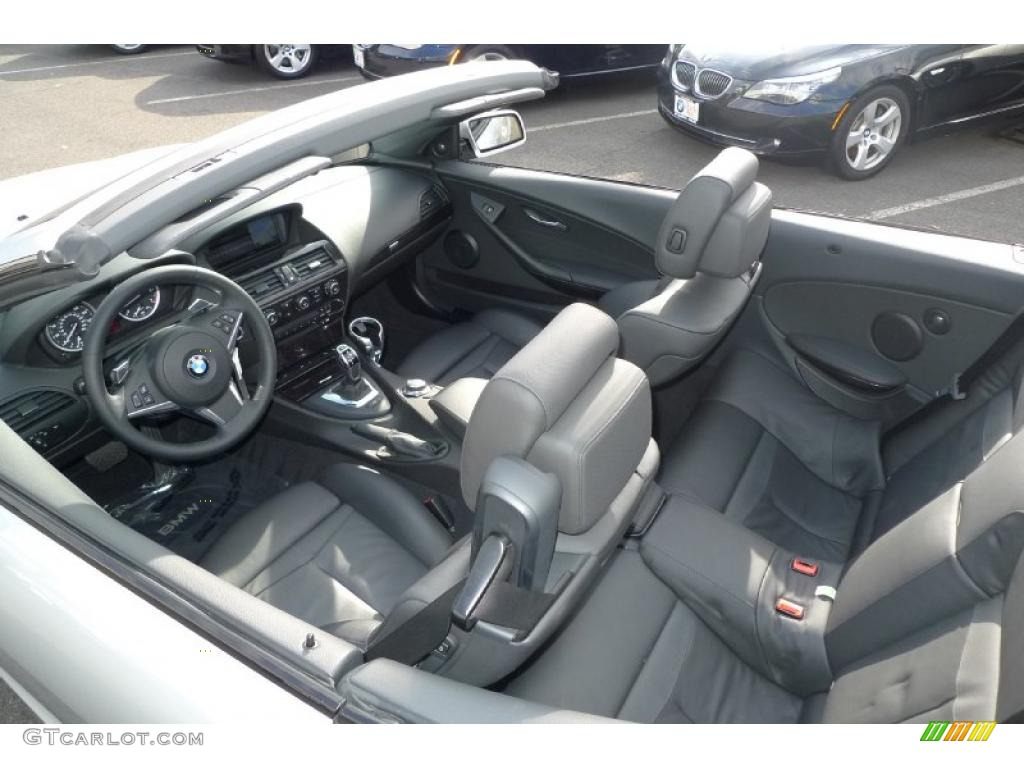 Black Interior 2008 BMW 6 Series 650i Convertible Photo 40181490