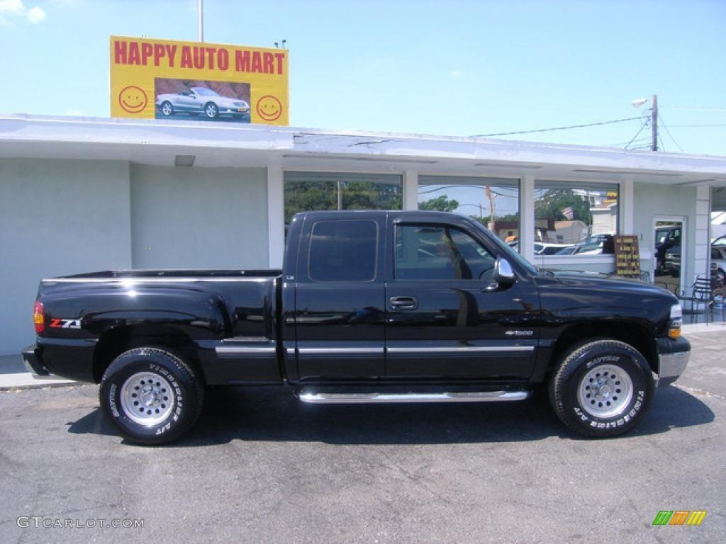 2000 Onyx Black Chevrolet Silverado 1500 Z71 Extended Cab 4x4 4015403 Photo 8