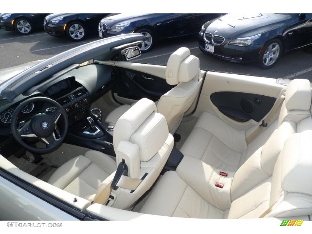 Cream Beige Interior 2008 BMW 6 Series 650i Convertible Photo 40183922