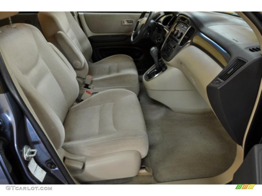 Ivory Interior 2001 Toyota Highlander 4wd Photo 40190347
