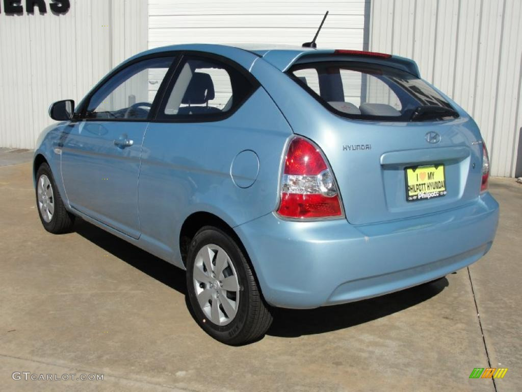 Ice Blue 2011 Hyundai Accent Gs 3 Door Exterior Photo 40200724 Gtcarlot Com
