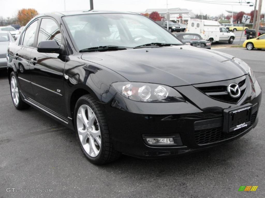 black mica 2007 mazda mazda3 s grand touring sedan. Black Bedroom Furniture Sets. Home Design Ideas