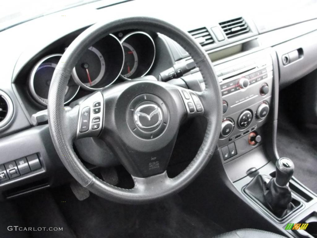 2007 mazda mazda3 s grand touring sedan black dashboard photo 40215257. Black Bedroom Furniture Sets. Home Design Ideas