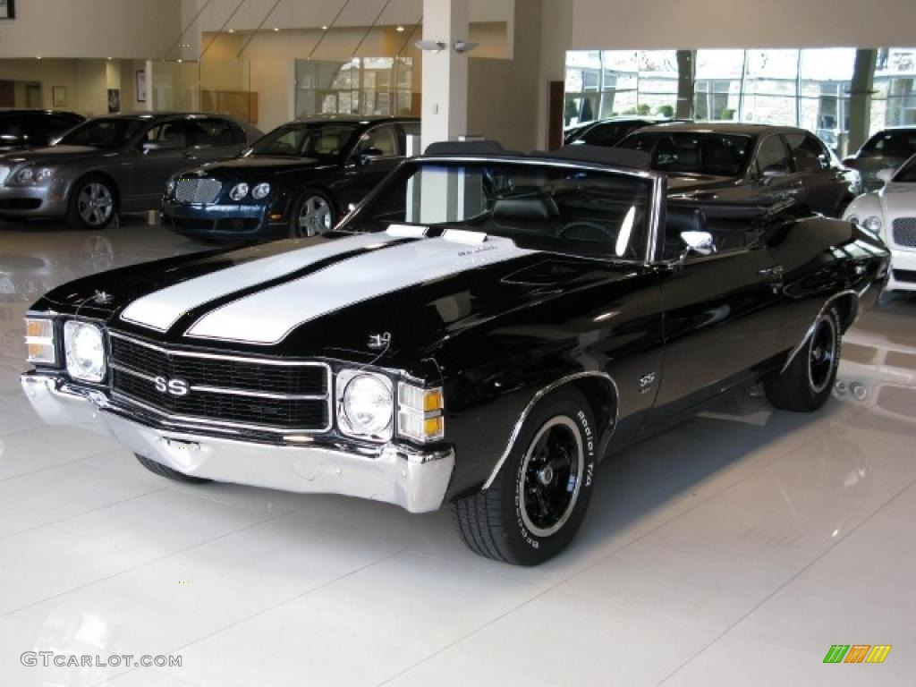 1971 Black Chevrolet Chevelle Ss 454 Convertible 40218282 Car Color Galleries