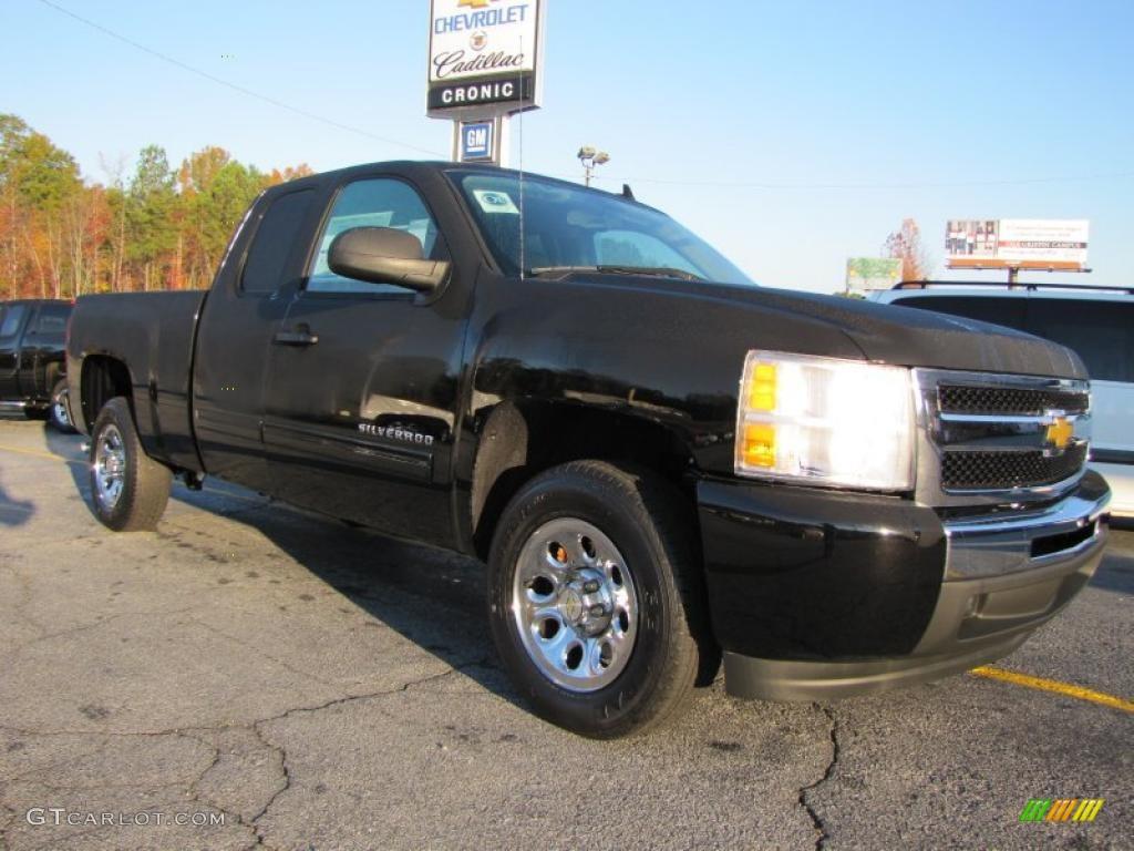 2011 Silverado 1500 LS Extended Cab - Black / Dark Titanium photo #1