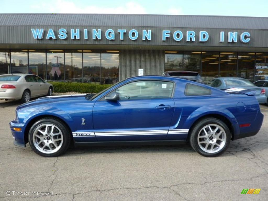 2007 Mustang Shelby GT500 Coupe - Vista Blue Metallic / Black Leather photo #1