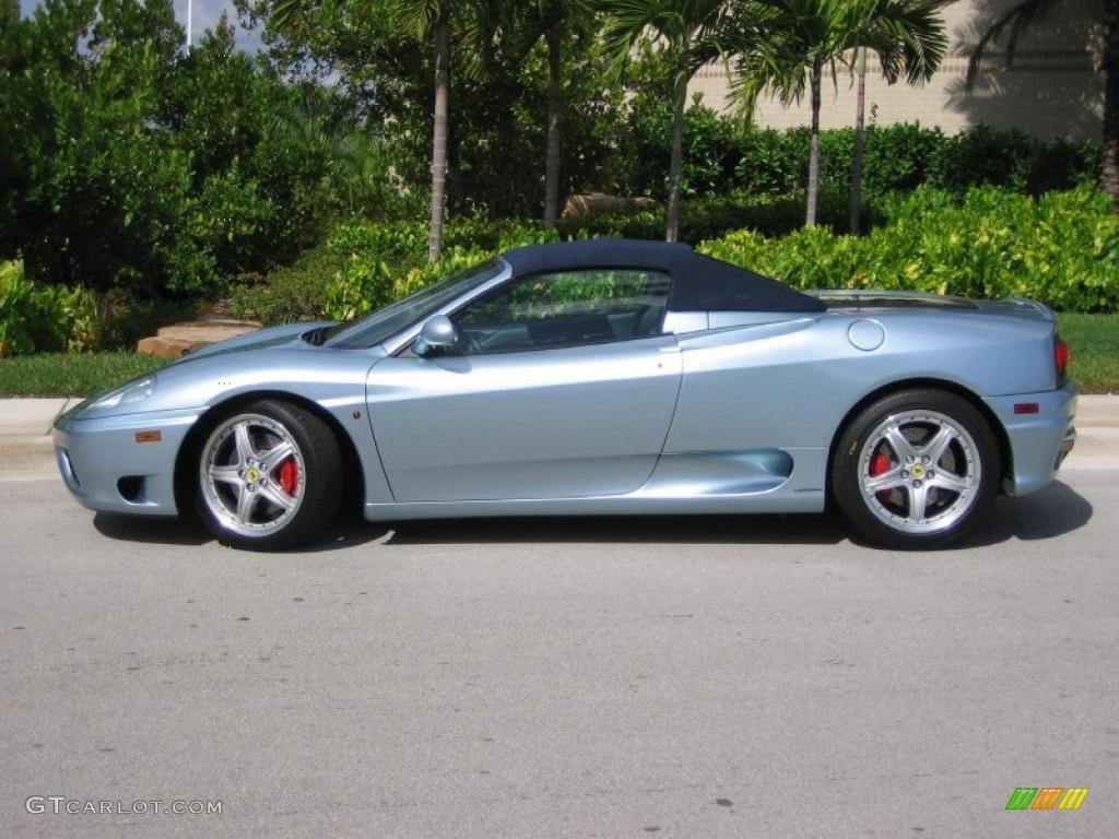 Grigio Alloy Silver 2003 Ferrari 360 Spider F1 Exterior