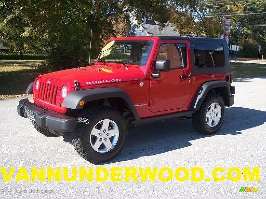 2010 flame red jeep wrangler rubicon 4x4 #40218482 | gtcarlot