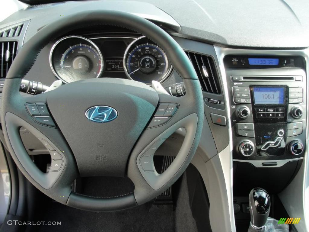 2011 Hyundai Sonata Se Gray Dashboard Photo 40288546