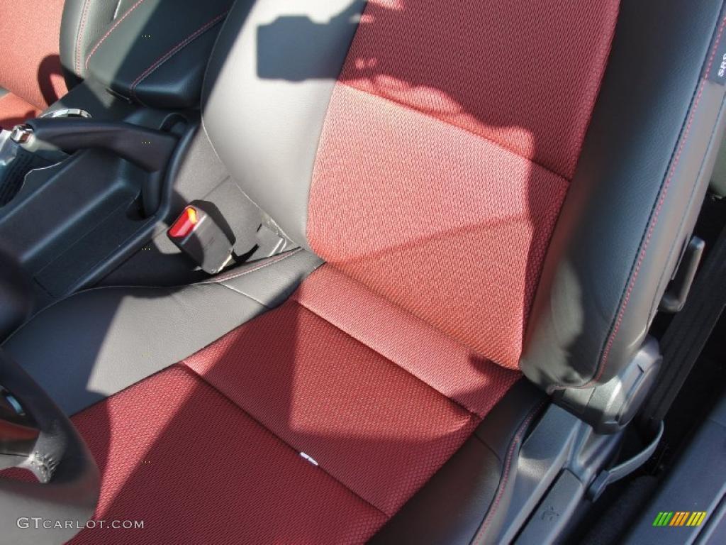 Black Leather Red Cloth Interior 2011 Hyundai Genesis Coupe 3 8 R Spec Photo 40289618