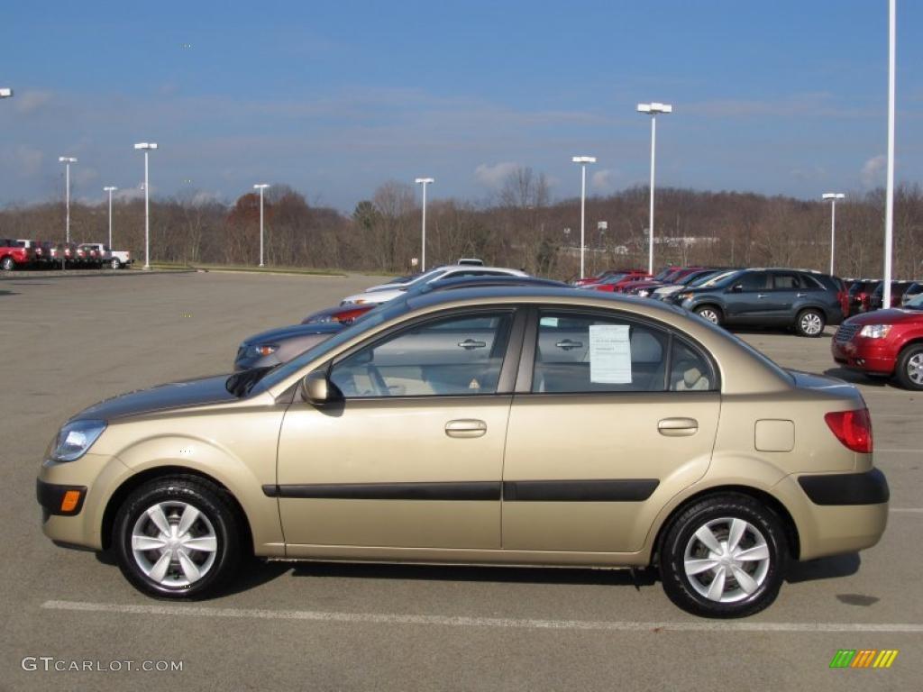 Cashmere beige 2007 kia rio lx sedan exterior photo 40310020