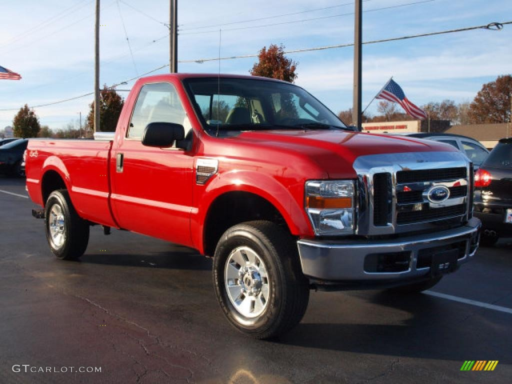 Red 2008 Ford F250 Super Duty Xlt Regular Cab 4x4 Exterior Photo 40321228 Gtcarlot Com