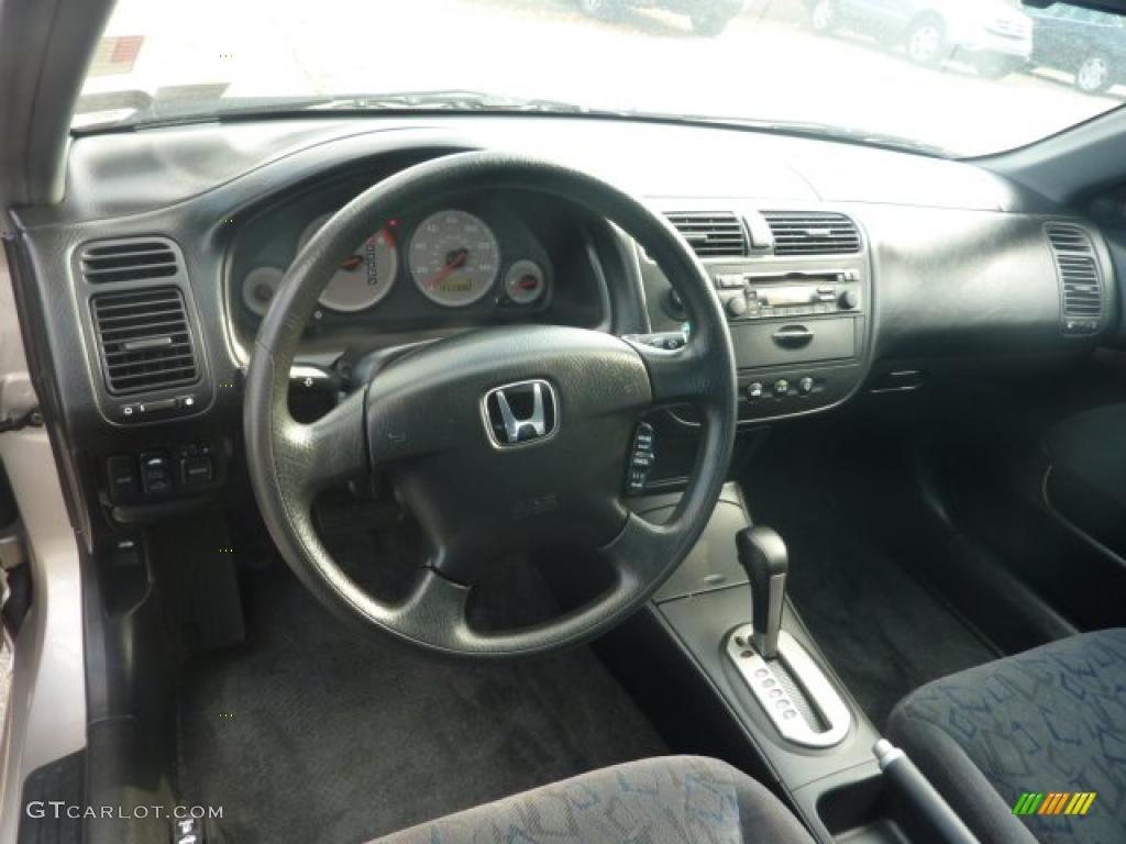 Black Interior 2002 Honda Civic Ex Coupe Photo 40321588