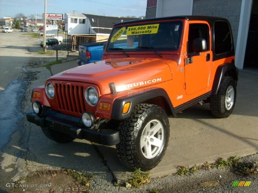 2006 Impact Orange Jeep Wrangler Rubicon 4x4 40302422