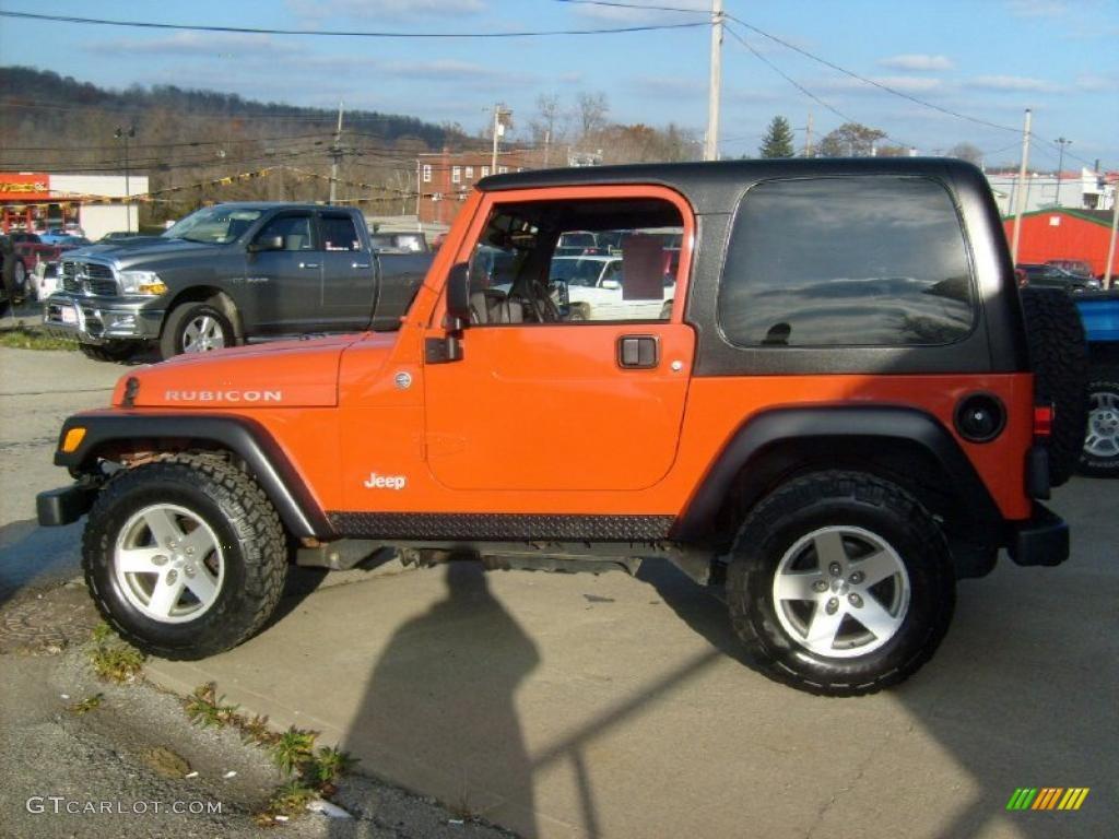 Impact Orange 2006 Jeep Wrangler Rubicon 4x4 Exterior Photo ...