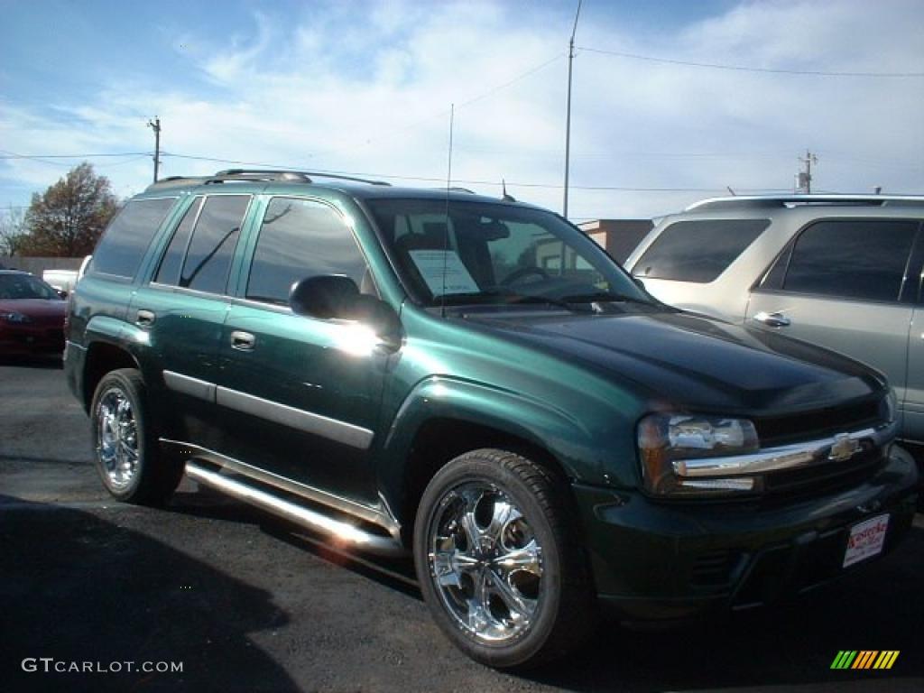 emerald jewel green metallic 2005 chevrolet trailblazer ls exterior photo 40342936. Black Bedroom Furniture Sets. Home Design Ideas