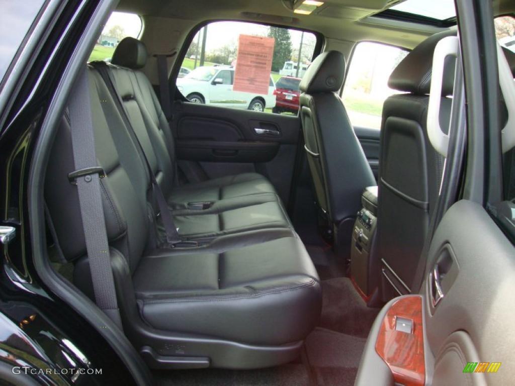 Ebony Interior 2008 Cadillac Escalade Awd Photo 40347442