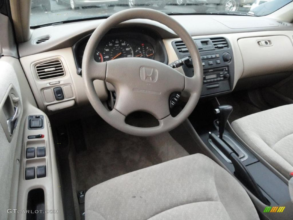 Ivory Interior 2001 Honda Accord Lx Sedan Photo 40347830