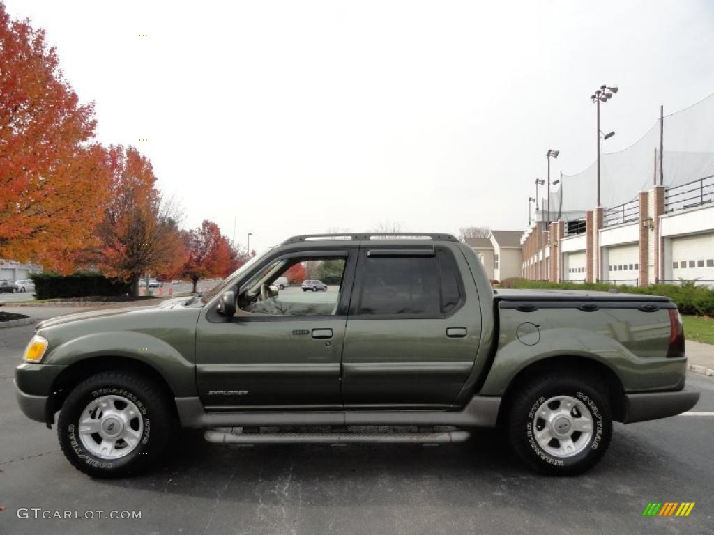 Estate green metallic 2001 ford explorer sport trac 4x4 exterior photo 40348934