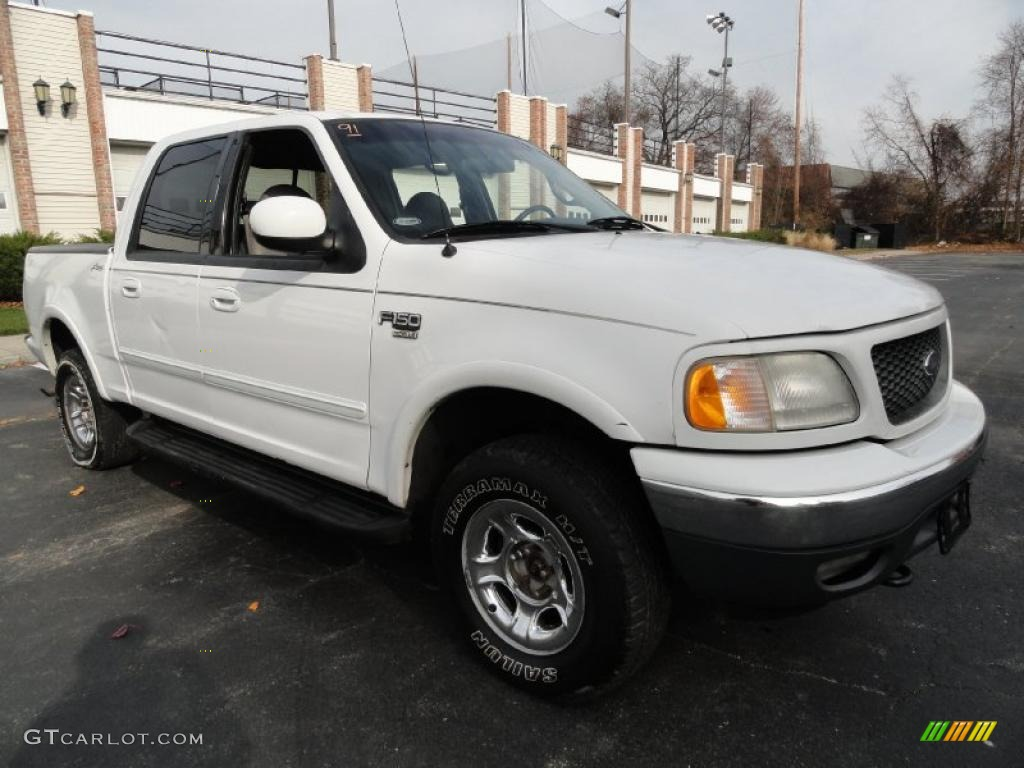 oxford white 2001 ford f150 xlt supercrew 4x4 exterior photo 40349294. Cars Review. Best American Auto & Cars Review