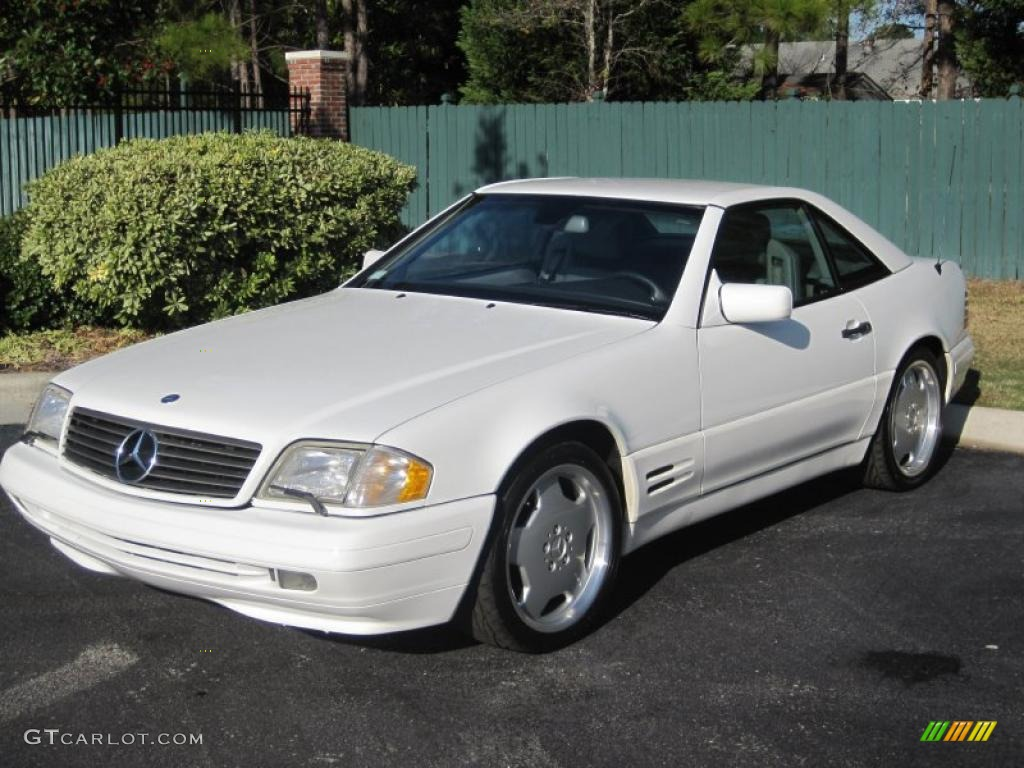 1997 polar white mercedes benz sl 320 roadster 40353147 car color galleries. Black Bedroom Furniture Sets. Home Design Ideas