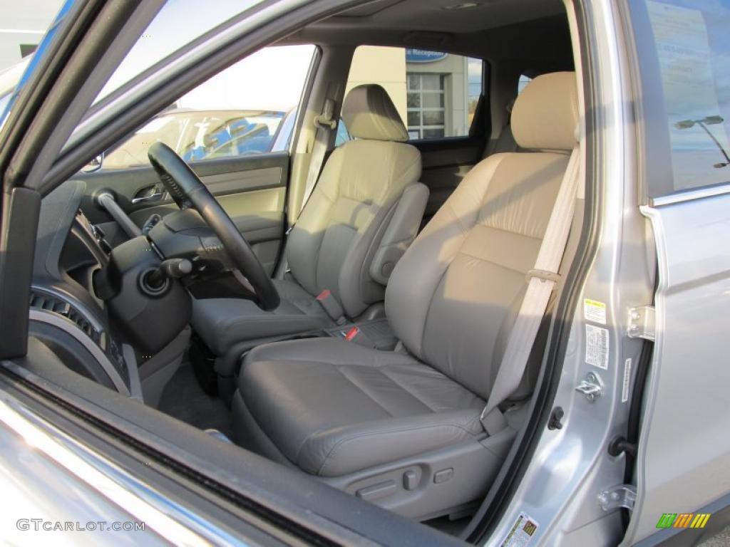 2009 CR-V EX-L 4WD - Alabaster Silver Metallic / Gray photo #9