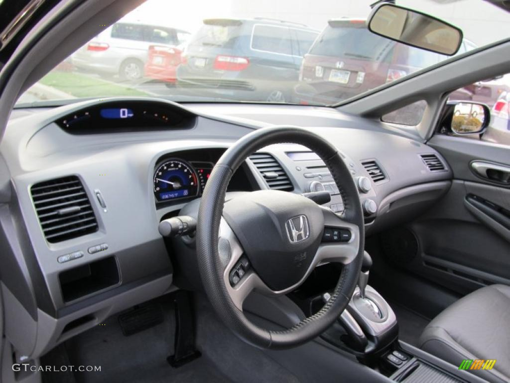 Gray Interior 2008 Honda Civic Ex L Sedan Photo 40369949