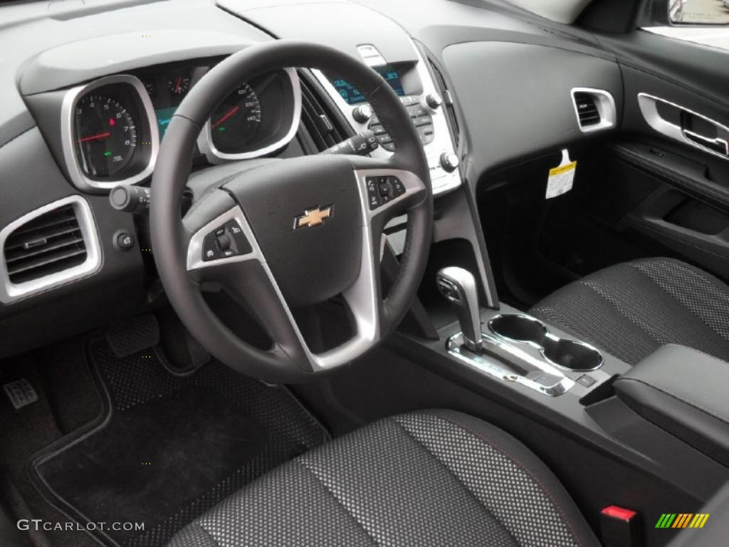 Jet Black Interior 2011 Chevrolet Equinox LT Photo ...