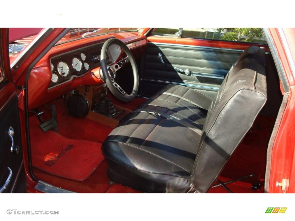 Red Black Interior 1965 Chevrolet El Camino Standard El